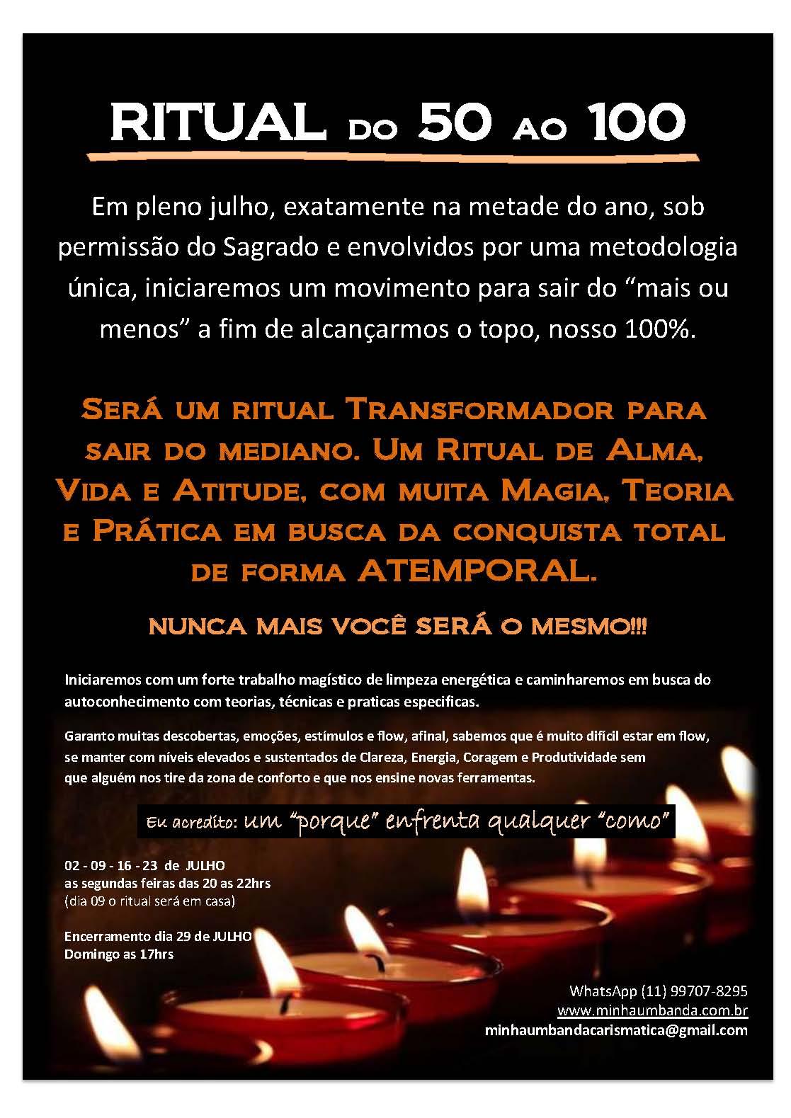 ritual 50 a 100