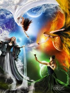 _The_Elemental_Goddesses__by_moroka323
